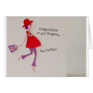Cartão parabéns em sua gravidez!