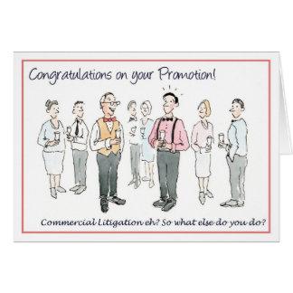 Cartão Parabéns em sua promoção
