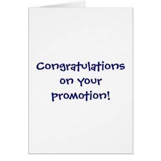 Cartão Parabéns em sua promoção!