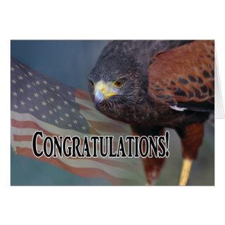 Cartão Parabéns em sua promoção militar