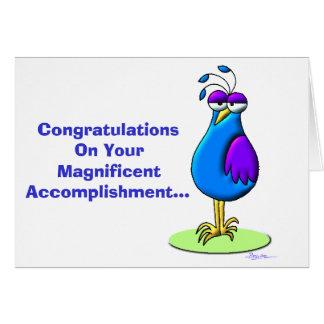 Cartão Parabéns em sua realização magnífica