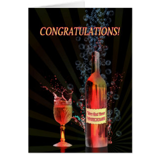 Cartão Parabéns em sua vasectomia, espirrando o vinho