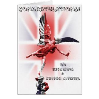 Cartão Parabéns em transformar-se um cidadão britânico!