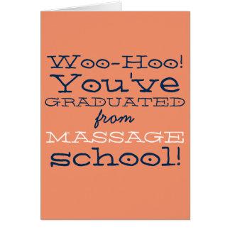 Cartão Parabéns engraçados da graduação da escola da