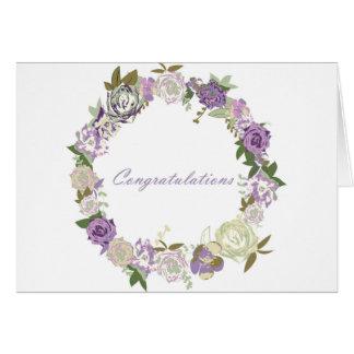 Cartão Parabéns escuros dos rosas de veludo