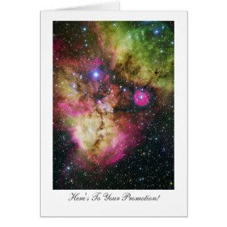 Cartão Parabéns estelares do berçário em sua promoção