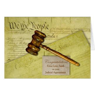 Cartão Parabéns feitos sob encomenda, tema da lei,