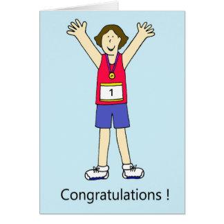 Cartão Parabéns fêmeas do corredor