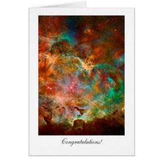 Cartão Parabéns - general, estrelas da nebulosa de Carina