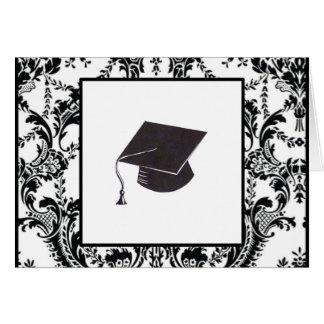 Cartão Parabéns graduados do damasco