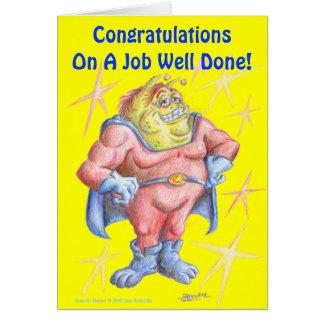Cartão Parabéns, herói!