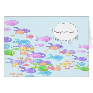 Cartão Parabéns marinhos da graduação do biólogo dos