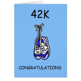 Cartão Parabéns masculinos da maratona 42K