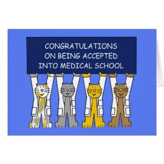 Cartão Parabéns na aceitação na Faculdade de Medicina