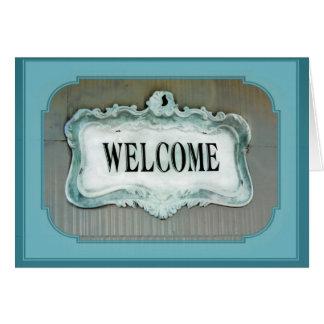 Cartão Parabéns na casa nova da boa vinda da casa