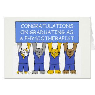 Cartão Parabéns na graduação como um fisioterapeuta