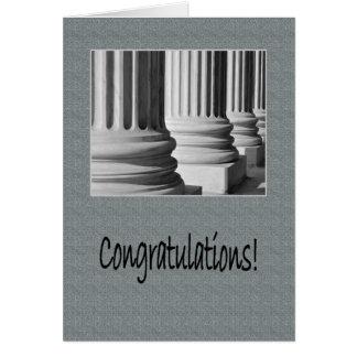 Cartão Parabéns na graduação da escola de direito