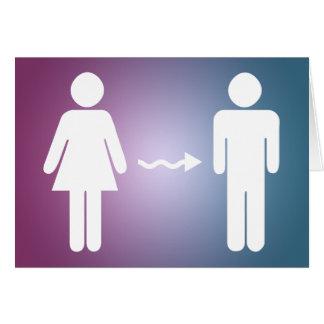 Cartão parabéns na mudança do género