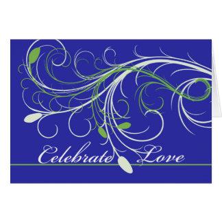 Cartão Parabéns na renovação dos votos, design elegante