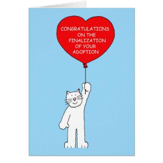 Cartão Parabéns no acabamento de sua adopção
