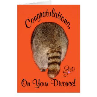 Cartão Parabéns no divórcio