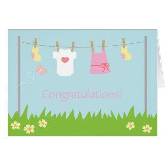 Cartão Parabéns no nascimento do bebé