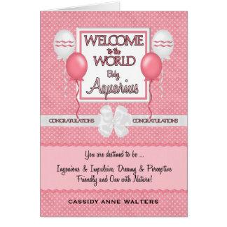Cartão Parabéns novos bem-vindos do Aquário do bebé