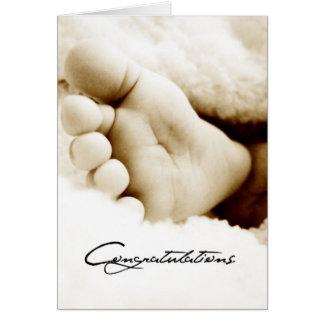 Cartão Parabéns novos do bebê