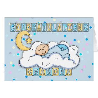 Cartão Parabéns novos do bebé da avó