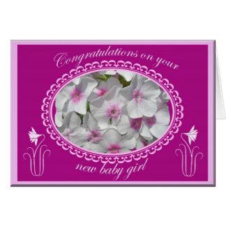 Cartão Parabéns novos do bebé do Phlox