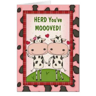 Cartão Parabéns novos do movimento - vacas