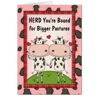 Cartão Parabéns novos do trabalho ou da promoção - vacas