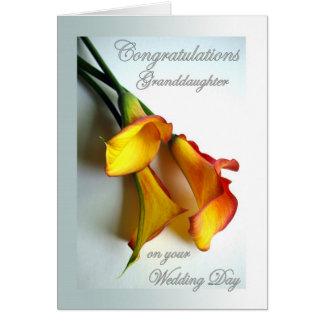 Cartão Parabéns para a neta no dia do casamento