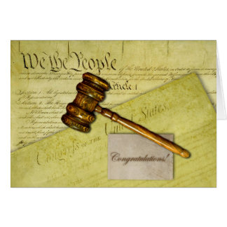 Cartão Parabéns para o advogado, o juiz, ou o advogado