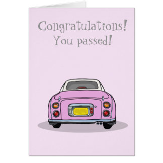 Cartão Parabéns passados teste de condução Figaro