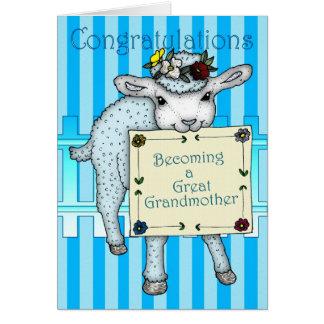 Cartão parabéns que transformam-se um excelente - avó