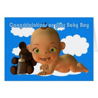 Cartão Parabéns um bebé bonito