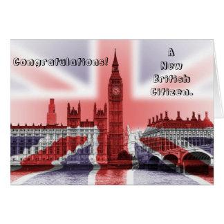 Cartão Parabéns! Um cidadão britânico novo