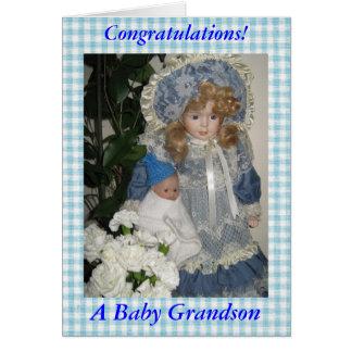 Cartão Parabéns um neto do bebê