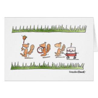 Cartão Parada do esquilo