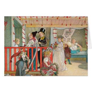 Cartão Parada do Natal das crianças
