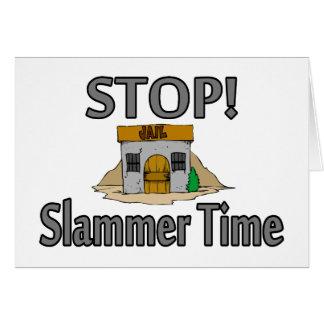 Cartão Parada é tempo de Slammer