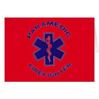 Cartão Paramédico do sapador-bombeiro