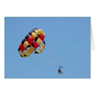 Cartão parasailing