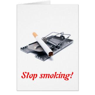 Cartão Pare de fumar!