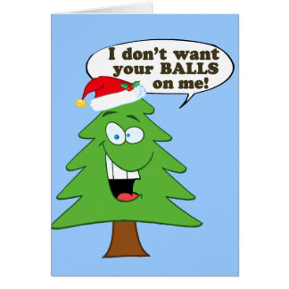 Cartão Pare o abuso de árvores de Natal