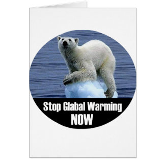 Cartão Pare o aquecimento global agora