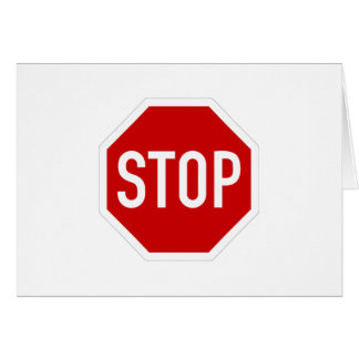 Cartão Pare o sinal