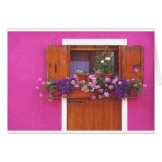 Cartão Parede cor-de-rosa em Burano
