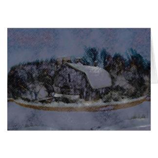 Cartão Parede da rocha do celeiro de Illinois
